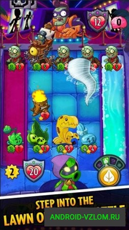 Plants vs. Zombies™ Heroes v 1.32.11 мод Unlimited Turn